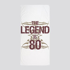 Men's Funny 80th Birthday Beach Towel