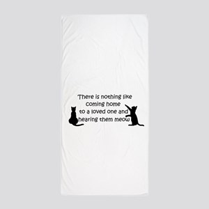 Coming Home to aCat Beach Towel