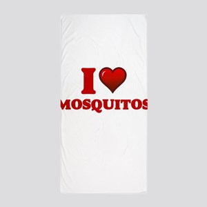 I Love Mosquitos Beach Towel