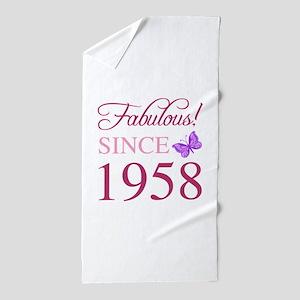 1958 Fabulous Birthday Beach Towel