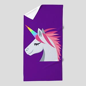 Unicorn Emoji Beach Towel