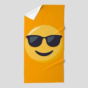 Sunglasses Emoji Beach Towel
