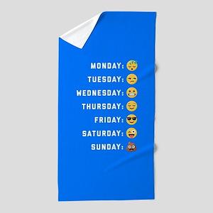 Emoji Days of the Week Beach Towel