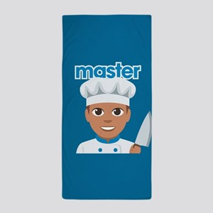 Emoji Master Chef Beach Towel