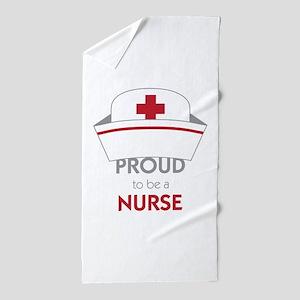 Proud To Be A Nurse Beach Towel