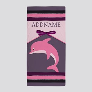 Personalized Gift For Kids Dolphin Beach Towel