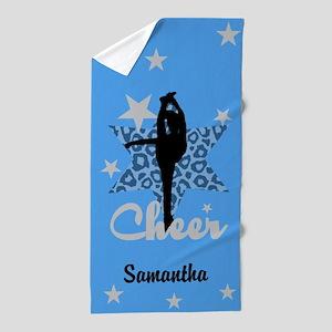 Blue Allstar Cheerleader Beach Towel