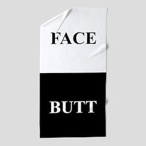 BUTT FACE Beach Towel