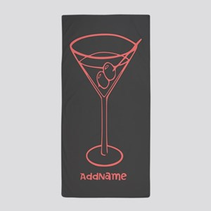 Custom Cocktail Martini Glass Beach Towel