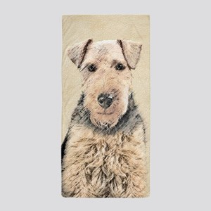 Welsh Terrier Beach Towel