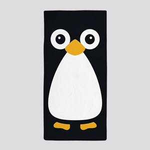 Cute Vector Penguin Beach Towel