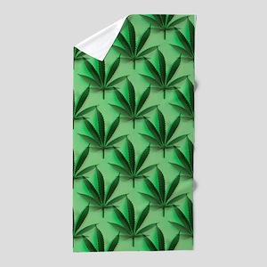 Cannabis Leaves Beach Towel