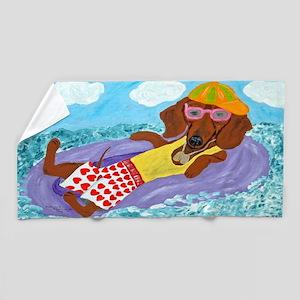 Dachshund Lazy Lifeguard Beach Towel