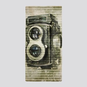 photographer retro camera Beach Towel