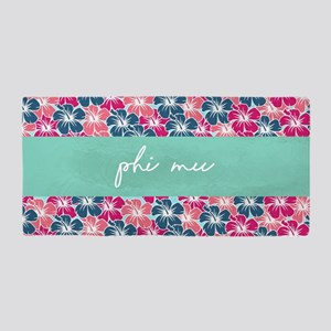 Phi Mu Flowers Beach Towel