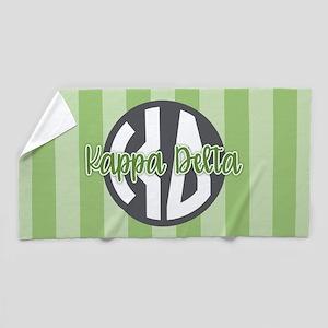 Kappa Delta Letters Striped Beach Towel