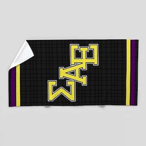Sigma Alpha Epsilon Letters Beach Towel