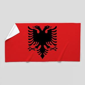 Flag of Albania Beach Towel
