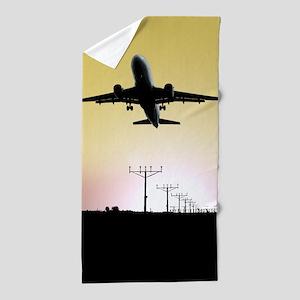 ATC: Air Traffic Control Tower & Plane Beach Towel