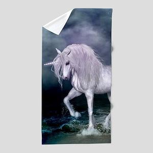 Wonderful unicorn on the beach Beach Towel
