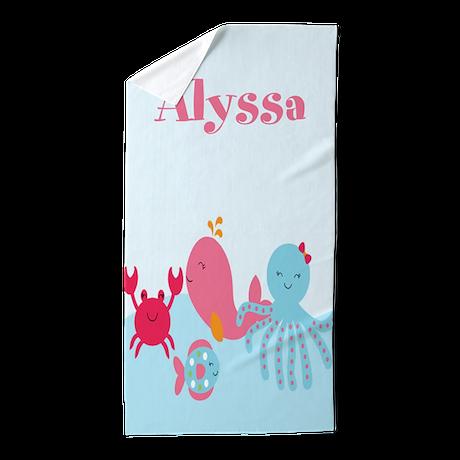 under the sea personalized beach towel by cupcakesandsprinklesbirthdaytees. Black Bedroom Furniture Sets. Home Design Ideas