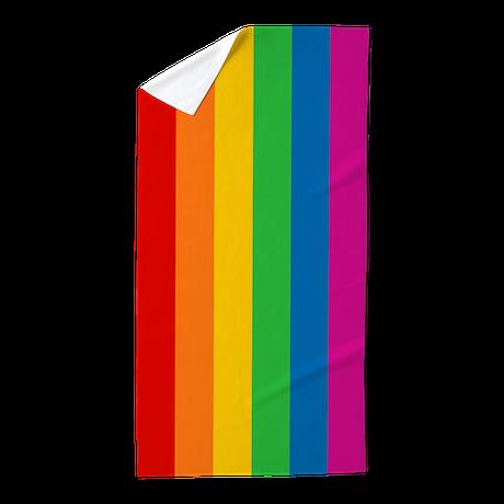 Rainbow Stripe Beach Towel by rainbowthree