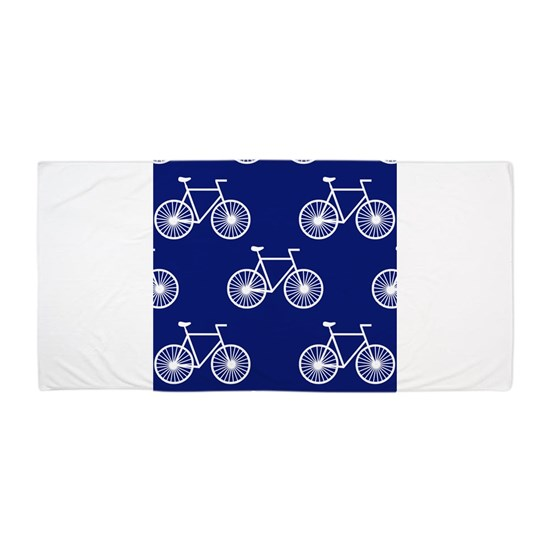 White Bicycle, Cycling Pattern; Dark Blue