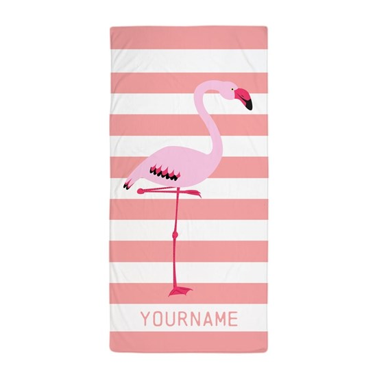 Coral Flamingo Personalized Name
