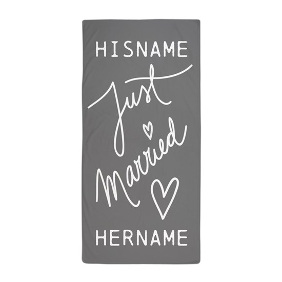 Just Married Personalized