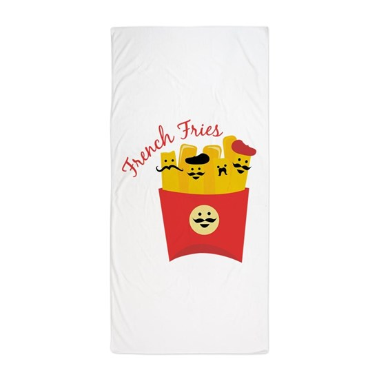 French Fries Beach Towel By Windmill