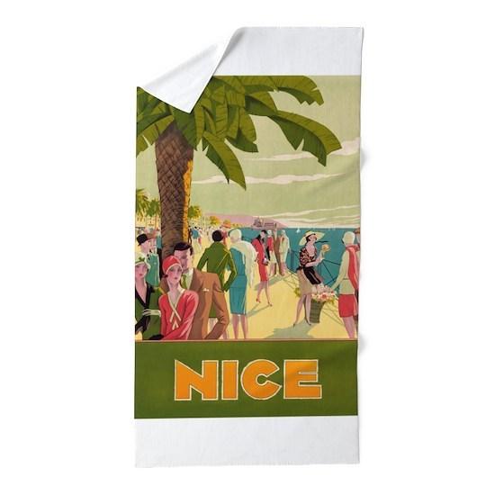 Vintage Travel Poster Beach Towel