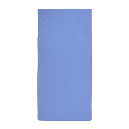 Solid Color Beach Towels.Periwinkle Blue Solid Color Beach Towel
