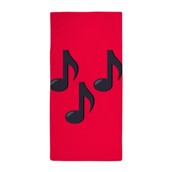 Music Notes Emoji Beach Towel
