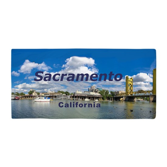 May The 4th Be With You Sacramento: Sacramento Beach Towel By Leemcnut