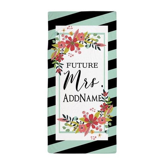 Future Mrs Floral Stripes Personalized