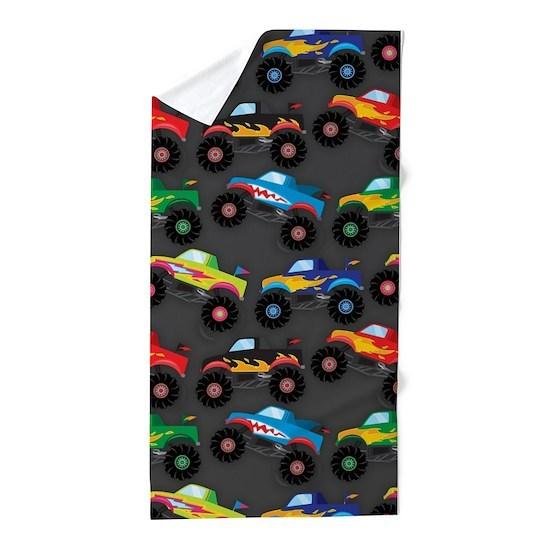 Cool Monster Trucks Pattern, Colorful Kids