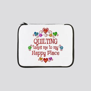 "Quilting Happy Place 13"" Laptop Sleeve"