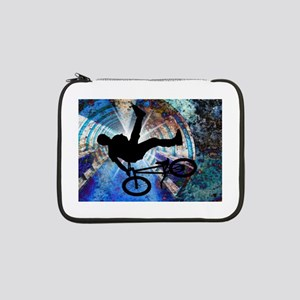 "BMX in a Grunge Tunnel 13"" Laptop Sleeve"