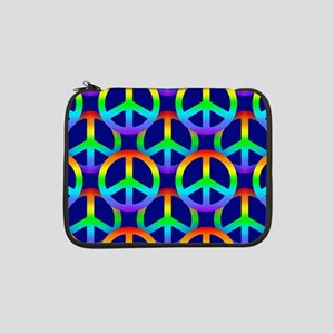 "Rainbow Peace Sign 13"" Laptop Sleeve"