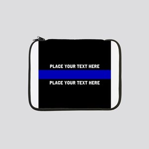 "Thin Blue Line Customized 13"" Laptop Sleeve"