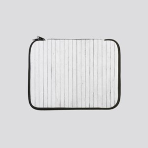 "shabby chic white pin stripes 13"" Laptop Sleeve"