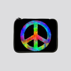 "Abstract Rainbow Peace Sign 13"" Laptop Sleeve"