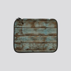 "rustic western turquoise barn wo 13"" Laptop Sleeve"