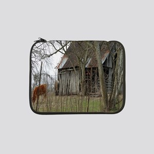 "antique barn And Cows 13"" Laptop Sleeve"