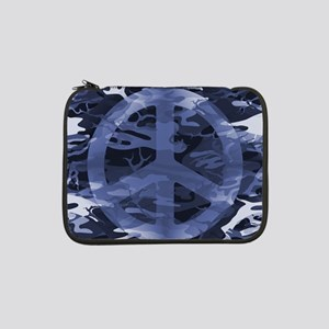 "Camouflage Peace Sign 13"" Laptop Sleeve"