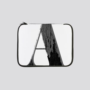 Grungy artistic letter A in black and grey tone 13