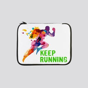 "Keep Running 13"" Laptop Sleeve"