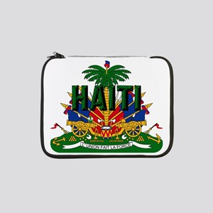 "Haitian Coat of Arms 13"" Laptop Sleeve"