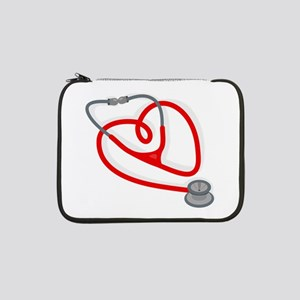 "Stethoscope Heart 13"" Laptop Sleeve"