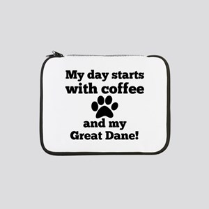 "My day starts with Coffee and my 13"" Laptop Sleeve"